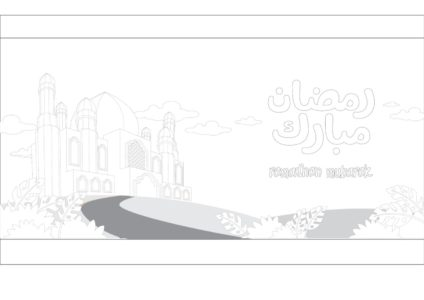 Printables For Kids تلوين مسجد مطبوعات رمضان Masjed Coloring